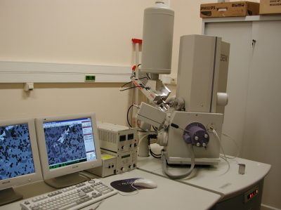 A scanning electron microscope at the University of Birmingham