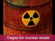 Picture of a barrel of nuclear waste
