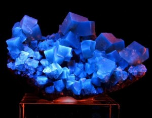 Fluorite, fluorescent under UV light