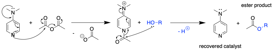 DMAP catalysis mechanism