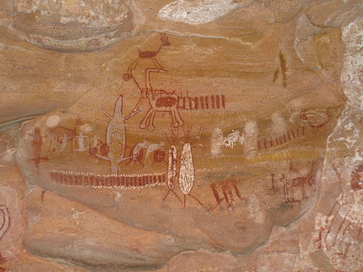 Cave painting at Serra da Capivara National Park, Brazil