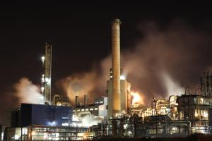 an industrial plant